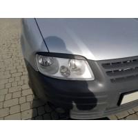 Реснички (2 шт, ABS) Черный мат для Volkswagen Caddy 2004-2010
