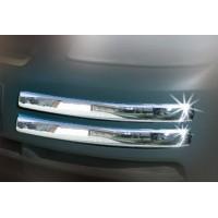 Уголки на передний бампер (4 шт, нерж) Carmos - Турецкая сталь для Volkswagen Caddy 2004-2010