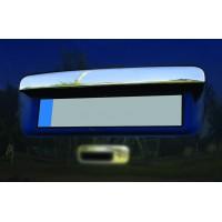 Накладка над номером (1 дверн, нерж) Carmos - Турецкая сталь (с надписью) для Volkswagen Caddy 2004-2010 гг.