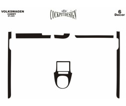 Volkswagen Caddy 2004-2010 гг. Накладки на панель (дополнения) Карбон