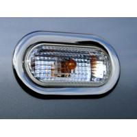 Хром накладки на поворотники OmsaLine (2 шт, нерж) для Volkswagen Caddy 2010-2015 гг.