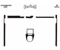 Volkswagen Caddy 2010-2015 гг. Накладки на панель (дополнения) Карбон