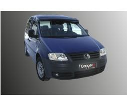 Volkswagen Caddy 2015↗ гг. Козырек на лобовое стекло (черный глянец, 5мм)
