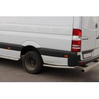Боковые трубы за задним колесом (2 шт, нерж) ExtraLong, 60мм для Volkswagen Crafter 2006-2017