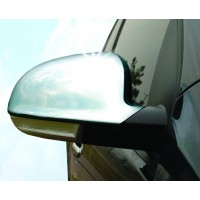 Накладки на зеркала (2 шт, нерж) OmsaLine - Итальянская нержавейка для Volkswagen EOS 2006-2011