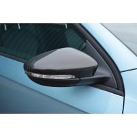 Накладки на зеркала (2 шт, натуральный карбон) для Volkswagen EOS 2011+