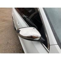 Накладки на зеркала (2 шт, нерж) OmsaLine - Итальянская нержавейка для Volkswagen EOS 2011+