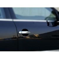 Накладки на ручки (4 шт, нерж) Libao - Хромированный пластик для Volkswagen Golf 4