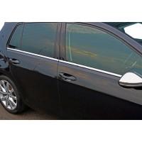 Нижние молдинги стекол OmsaLine (4 шт, нерж) Хром для Volkswagen Golf 7
