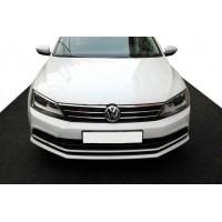 Накладки на решетку 2014-2021 (нерж) для Volkswagen Jetta 2011-2018