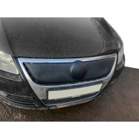 Зимняя накладка на решетку (верхняя) Матовая для Volkswagen Passat B6 2006-2012