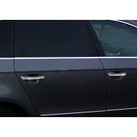 Нижние молдинги стекол (4 шт, нерж.) Carmos - Турецкая сталь для Volkswagen Passat B6 2006-2012