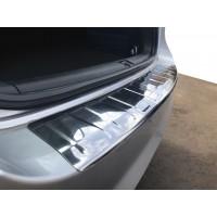 Накладка на задний бампер Carmos (SW, нерж) для Volkswagen Passat B7 2012-2015