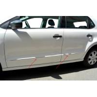 Молдинг дверей HB (нерж) для Volkswagen Polo 2009-2017