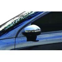 Накладки на зеркала (2 шт, нерж) OmsaLine - Итальянская нержавейка для Volkswagen Scirocco