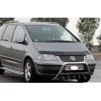 Дефлектор капота 2000-2021 (VIP) для Volkswagen Sharan 1995-2010