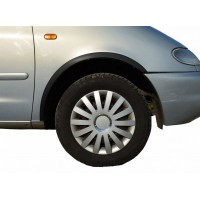 Накладки на арки (2001-2010, 4 шт, черные) для Volkswagen Sharan 1995-2010