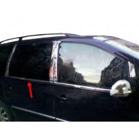 Окантовка стекол (4 шт, нерж) Carmos - Турецкая сталь для Volkswagen Sharan 1995-2010