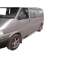 Боковые трубы (2 шт, нерж.) 60мм, Короткая база для Volkswagen T4 Caravelle/Multivan