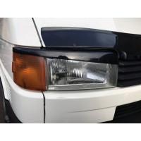 Реснички Прямой капот (2 шт) Черный глянец для Volkswagen T4 Transporter