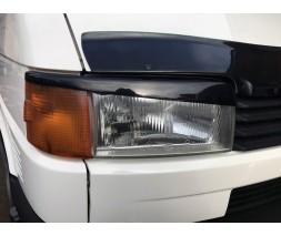 Volkswagen T4 Transporter Реснички Прямой капот (2 шт) Черный глянец