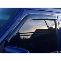Ветровики (2 шт, DDU-Sunflex) Черный глянец для Volkswagen T4 Transporter