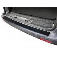 Накладка на задний бампер с загибом (ABS-пластик) Матовая для Volkswagen T5 Caravelle 2004-2010