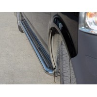 Боковые пороги Premium (2 шт, нерж) 60 мм, короткая база для Volkswagen T5 Multivan 2003-2010