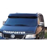 Козырек на лобовое стекло (черный глянец, 5мм) для Volkswagen T5 Multivan 2003-2010