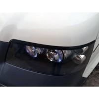 Реснички (2 шт, пласт, черные) Черный мат для Volkswagen T5 Multivan 2003-2010