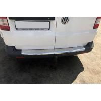 Накладки на задний бампер с загибом (Carmos, сталь) для Volkswagen T5 Multivan 2003-2010