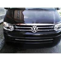 Volkswagen T5 рестайлинг 2010-2015 гг. Кант на кромку капота (нерж)