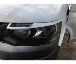 Volkswagen T5 рестайлинг 2010-2015 гг. Реснички-очки для фар (2 шт, под покраску)