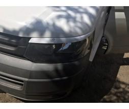 Volkswagen T5 рестайлинг 2010-2015 гг. Реснички для фар (2 шт, под покраску)