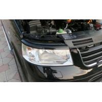 Реснички для фар (2 шт, черные) Черный мат для Volkswagen T5 Transporter 2003-2010