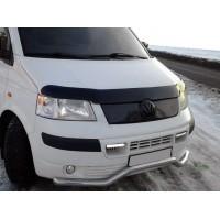 Зимняя верхняя накладка на решетку Глянцевая для Volkswagen T5 Transporter 2003-2010