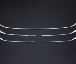 Volkswagen T6 2015↗, 2019↗ гг. Накладки на решетку Хром 2019+ (6 шт, нерж) OmsaLine - Итальянская нержавейка