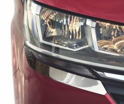 Volkswagen T6 2015↗, 2019↗ гг. Реснички под фары 2019-2021 (2 шт, нерж)