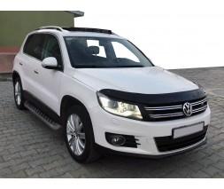 Volkswagen Tiguan 2007-2016 гг. Дефлектор капота (EuroCap)