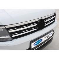 Накладки на решетку (2 шт, нерж) для Volkswagen Tiguan 2016+