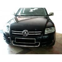 Накладки на решетку (4 шт, нерж) 2003-2008 для Volkswagen Touareg 2002-2010