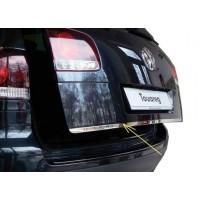 Кромка крышки багажника (нерж) OmsaLine - Итальянская нержавейка для Volkswagen Touareg 2002-2010