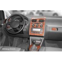 Volkswagen Touran 2003-2010 гг. Накладки на панель Карбон