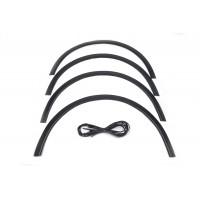 Volkswagen Touran 2003-2010 гг. Накладки на арки (4 шт, черные) 2006-2010, Пластиковые