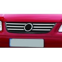 Накладки на решетку (6 шт, нерж) 2006-2010 год для Volkswagen Touran 2003-2010