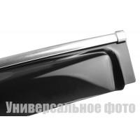 Ветровики с хром молдингом (4 шт, HIC) для Volvo XC70 2007-2013