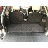 Коврик багажника с 3 частей (EVA, черный) для Volvo XC90 2002-2016