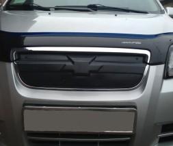 Chevrolet Aveo 2006-2011 Зимняя решетка радиатора глянцевая верхняя