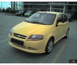 Накладка на передний бампер (под покраску) Chevrolet Aveo T200 2002-2008