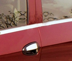 Наружняя окантовка стекол (Купе, 2шт, нерж.) Fiat Punto Grande/EVO 2006 и 2011
